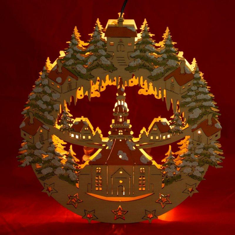 Led fensterbild 3d inkl trafo seiffener kirche vogtland souvenir - Led fensterbild ...