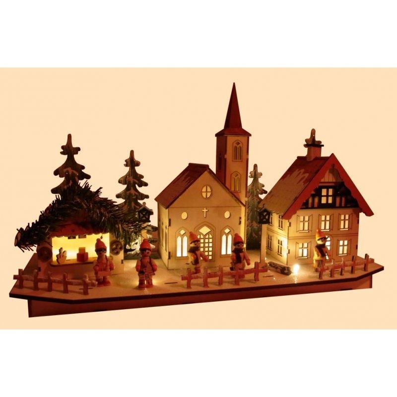 led weihnachtsdorf lichterhaus weihnachtsstadt gro. Black Bedroom Furniture Sets. Home Design Ideas