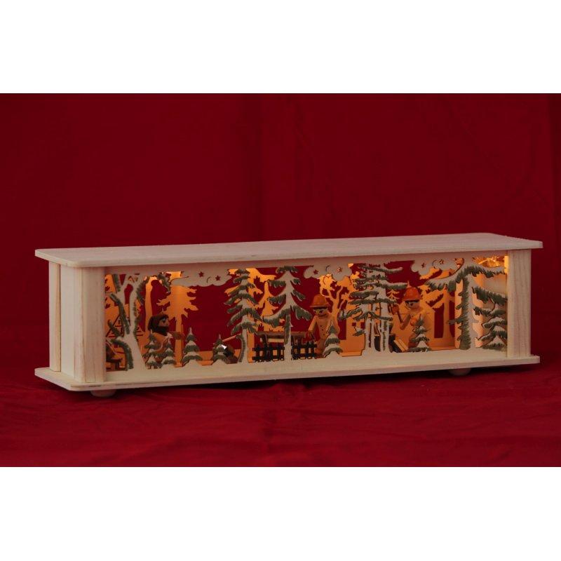schwibbogen unterbank led waldmotiv 43cm 34 95. Black Bedroom Furniture Sets. Home Design Ideas