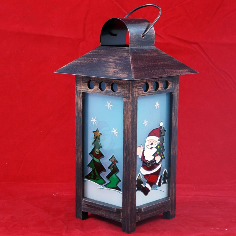 weihnachtslaterne laterne kupfer handbemalt winterlicht. Black Bedroom Furniture Sets. Home Design Ideas