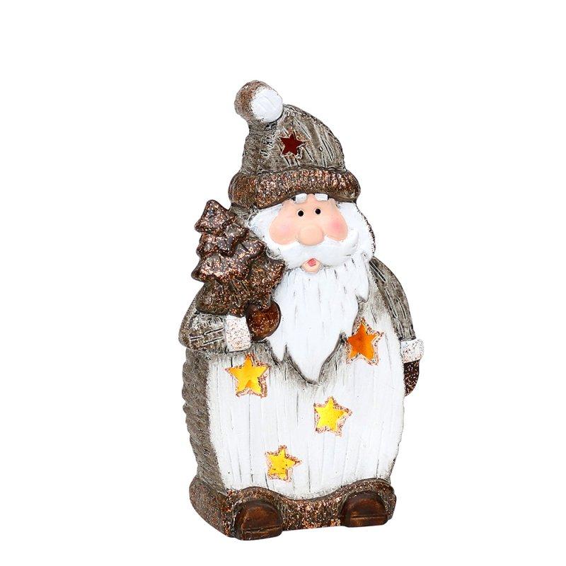 er set keramik figur schnee weihnachtsmann elch