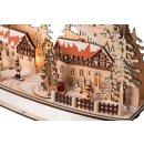 Wichtelstube-Kollektion LED Schwibbogen Weihnachten im Ergebirge, Schwippbogen Lichterbogen