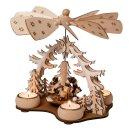 Wichtelstube-Kollektion Weihnachtspyramide f. Teelicht...