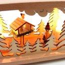 Wichtelstube-Kollektion Holz Schwibbogenbank Podest Wildfütterung 57x10x13cm