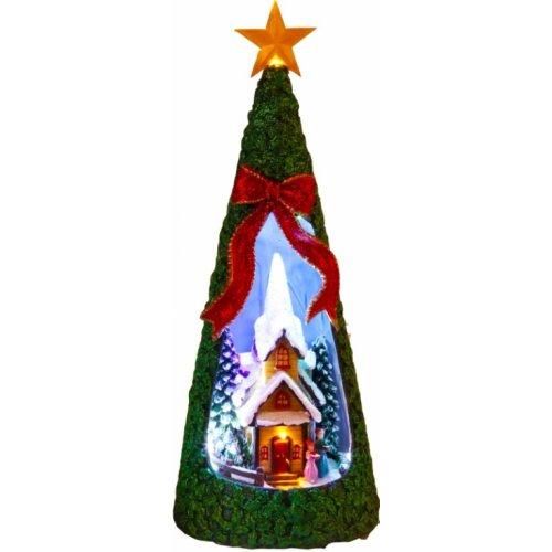 """LED Weihnachtsdeko Lichterhaus Lichtertanne """"Kirche"""" Weihnachtsbaum"""
