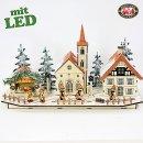 """LED Weihnachtsdorf Lichterhaus """"Weihnachtsstadt..."""
