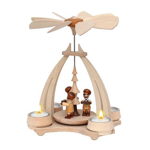 """Wichtelstube-Kollektion Weihnachtspyramide f. Teelichter 24cm mit  """"Bäckerfiguren"""" Pyramide Teelichter"""