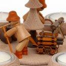 """Wichtelstube-Kollektion Weihnachtspyramide Tischpyramide Buche """"Waldleute Erzgebirge"""" 24 x 24 x 35 cm"""