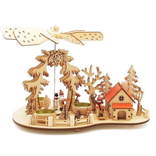 """Weihnachtspyramide mit Räucherhaus """"Ski"""", Pyramide Weihnachten"""