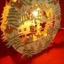 """Fensterbild beleuchtet """"Weihnachtsmann auf..."""