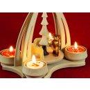 Wichtelstube-Kollektion Weihnachtspyramide f. Teelichter...