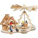 Weihnachtspyramide mit Räucherhaus f. Teelichter...