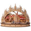 """LED Holz Schwibbogen Oval """"Weihnachtsmarkt im..."""