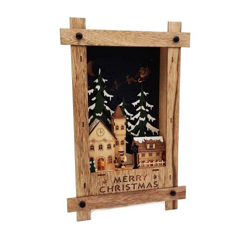 Wichtelstube-Kollektion Wandbild Weihnachten 3D Weihnachtsdeko Holz