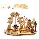 Teelichtpyramide mit Räucherhaus...