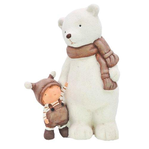 Wichtelstube-Kollektion XXL 37cm Weihnachtsdeko Figuren Eisbär Winter Deko Garten